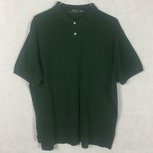 Ralph Lauren Polo Shirt Green Brown Size XXL TTG